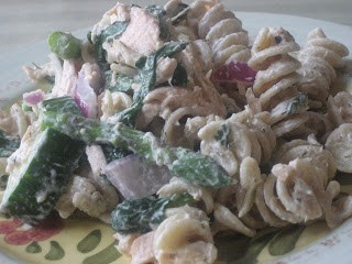 Creamy salmon pasta salad is a quick and easy salmon recipe, perfect for serving as a healthy main dish or side dish