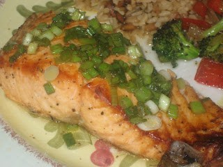 Key West Grilled Salmon - a quick, healthy and flavorful dinner! Comes together easily, great for trying to incorporate salmon into your diet.