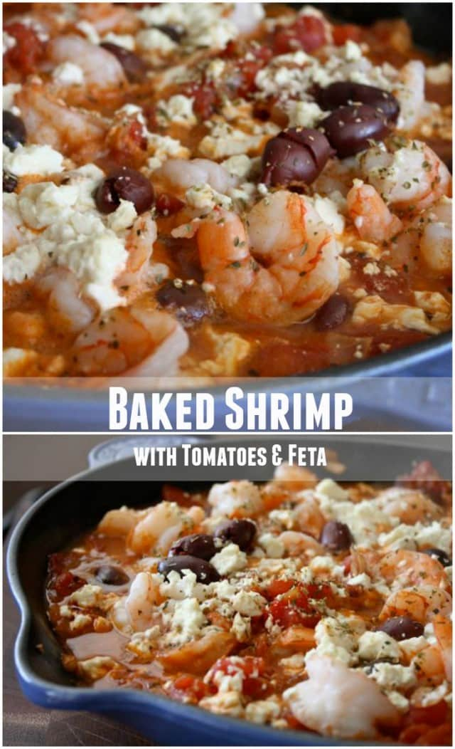 Easy and great for entertaining - this Baked Shrimp with Tomatoes and Feta is always loved in my house.