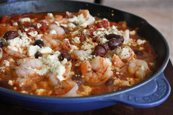 Ellie Krieger's Baked Shrimp with Tomatoes and Feta