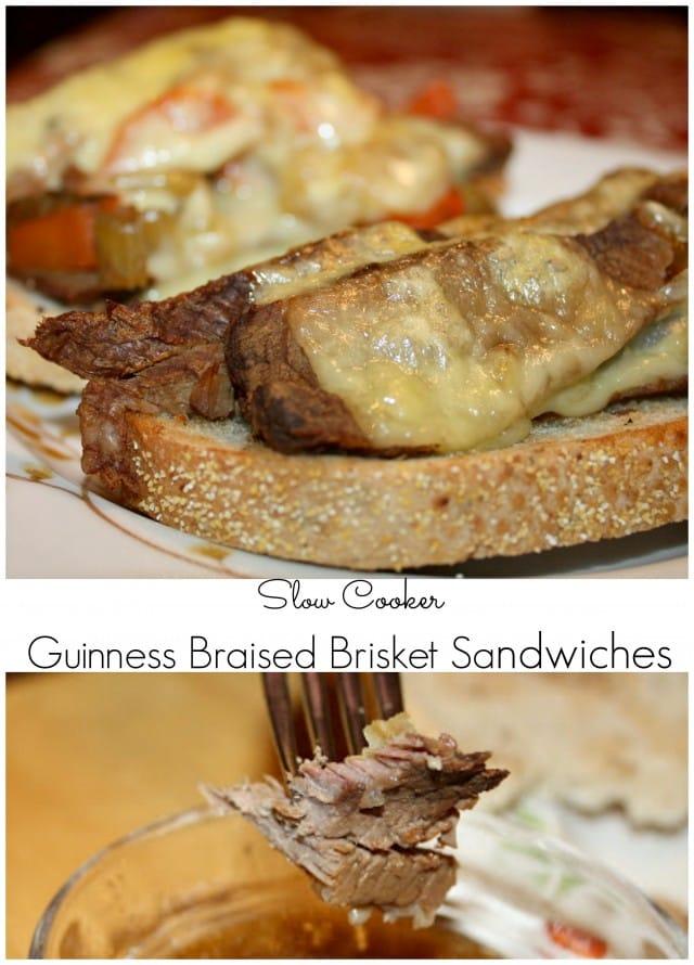 Slow Cooker Guinness Braised Brisket Sandwiches