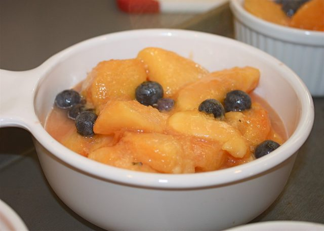 Nothing screams summertime like a Blueberry Peach Crumble (don't forget the scoop of vanilla ice cream!)