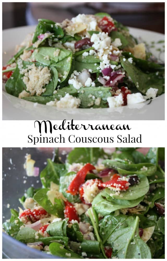 Mediterranean Spinach Couscous Salad | Aggie's Kitchen