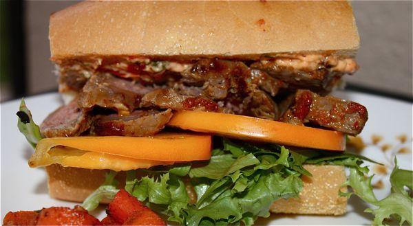 Harissa Steak Sandwich