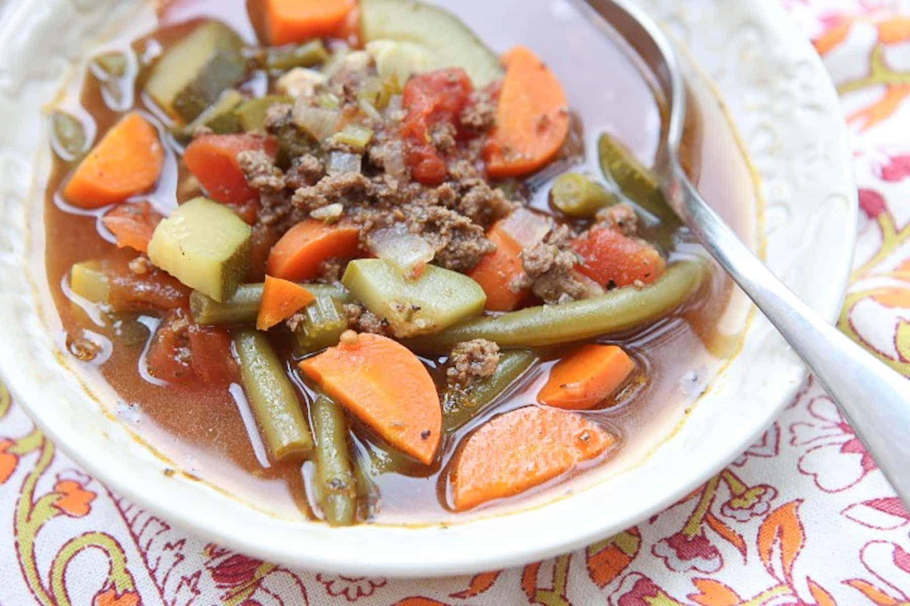 Italian Vegetable Beef Soup - Italian vegetable soup