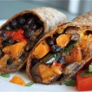 Roasted Veggie and Black Bean Burritos recipe 4