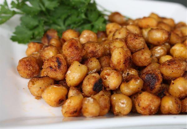 Pan Fried Cajun Chickpeas