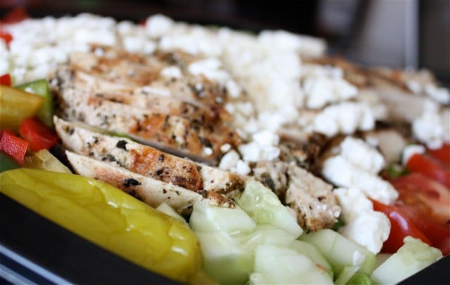 Greek Salad Dressing for Greek Grilled Chicken Salad | AggiesKitchen.com #healthy #salad #chicken