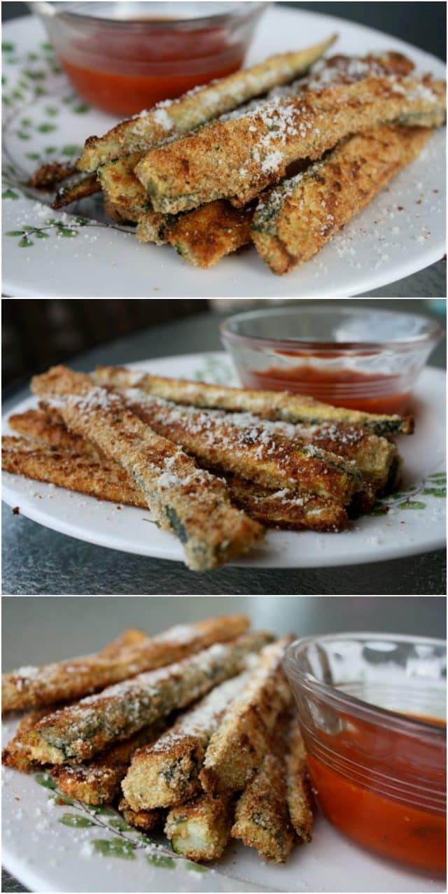 A summertime (or anytime!) favorite - Baked Parmesan Zucchini Sticks! My family loves when I make these! Recipe via aggieskitchen.com