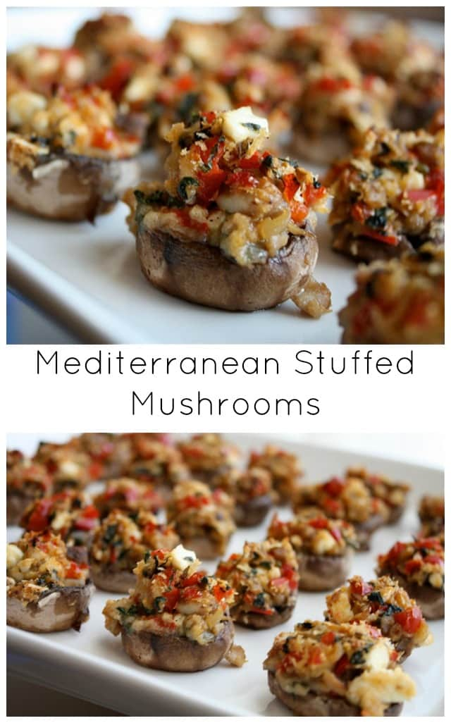 Mediterranean Stuffed Mushrooms  - a light and delicious appetizer perfect for entertaining