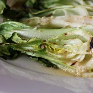 Grilled Baby Bok Choy with Asian Sesame Vinaigrette