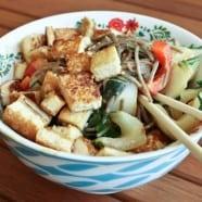 Sesame Tofu Noodle Bowl with Peanut Sauce-recipe-2