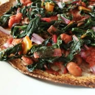 Rainbow Chard Tortilla Pizza