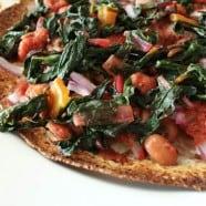 Rainbow Chard Tortilla Pizza