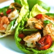 spicy shrimp lettuce cups