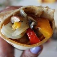 Mushroom and Pepper Wrap