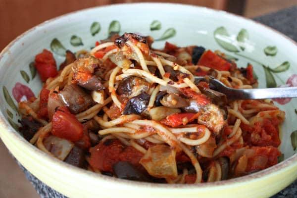 Roasted Vegetables over Spaghetti-recipe--4