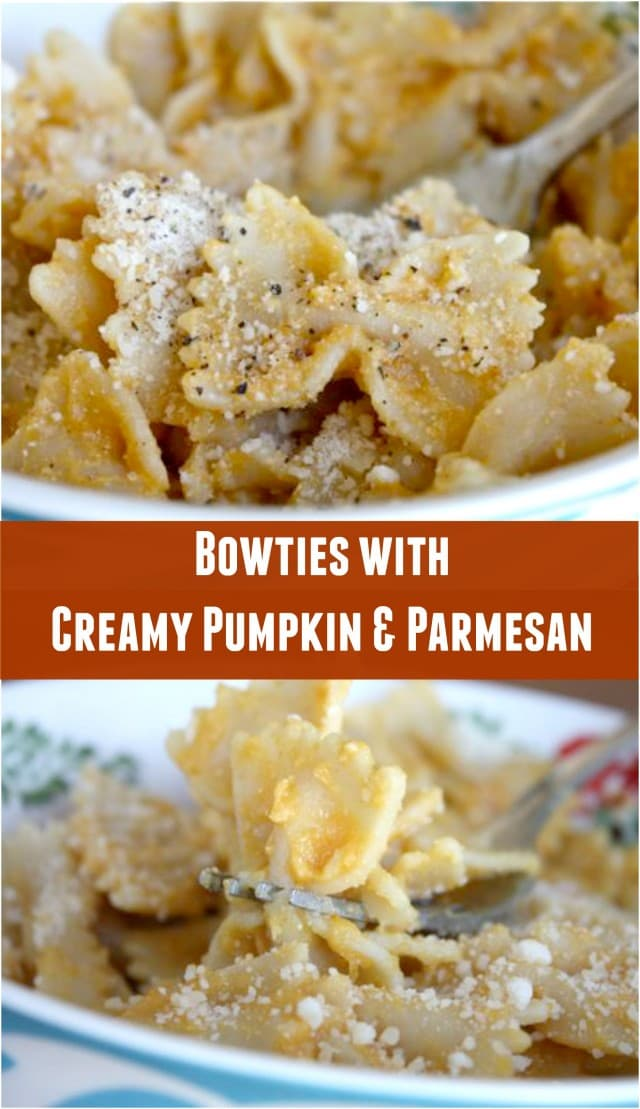 Bowtie Pasta with Creamy Pumpkin and Parmesan