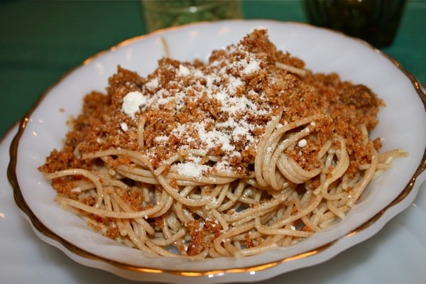 Sicilian Spaghetti with Breadcrumbs and Anchovies - part of our Christmas Eve 7 Fishes Feast! recipe via aggieskitchen.com