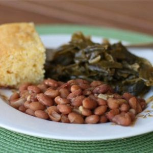 "Frijoles Borrachos (Drunken Beans) and ""Southern Style"" Vegetarian Collard Greens"