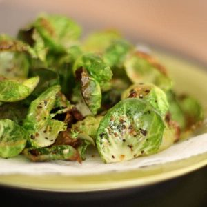 Lemon Pepper Brussels Sprout Chips | Aggie's Kitchen