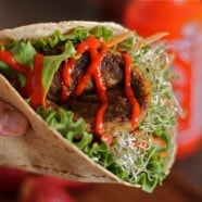 Veggie Burger Wrap recipe1