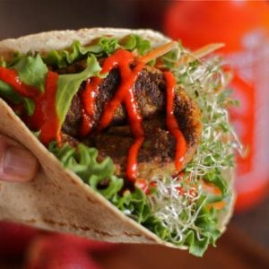 Veggie Burger Wraps