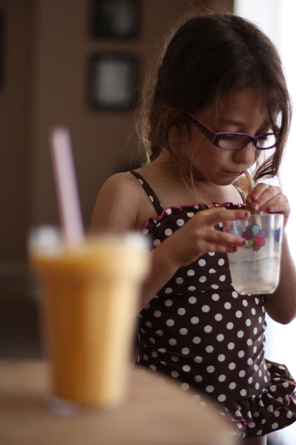 You Are My Sunshine Smoothie - my daughter's favorite smoothie