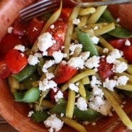 Green Bean, Cherry Tomato and Goat Cheese Salad
