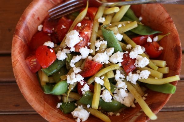 Green bean cherry tomato and goat cheese salad recipe1