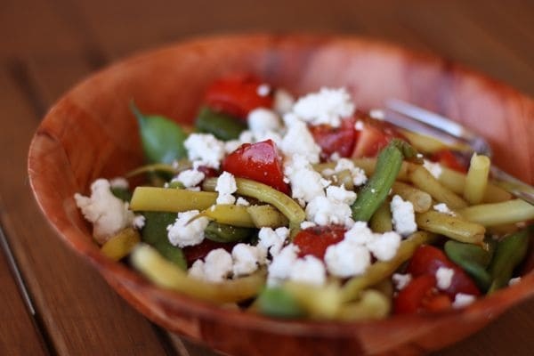 Green Beans, Lemon and Feta Cheese from Two Peas and Their Pod
