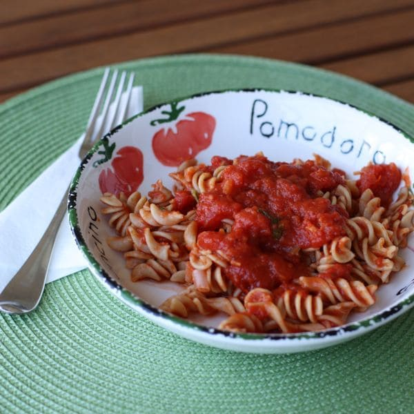 put together this quick marinara sauce yesterday for our
