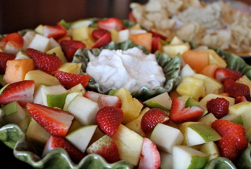 Love this fruit dip recipe to serve with bowls of fresh fruit when entertaining or bringing a dish to a party. Everyone loves fruit!