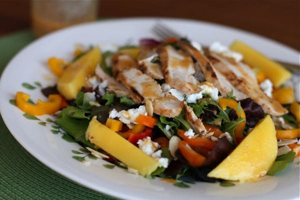Grilled Chicken Summer Salad With Mango