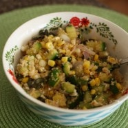 Zucchini, Fresh Corn and Quinoa Bowl recipe1