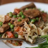 Hungarian Goulash with Peas and Carrots