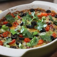 Hot Black Bean Fiesta Dip