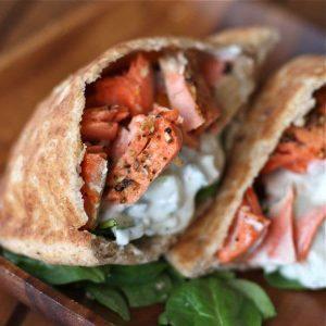 Healthy Salmon Gyros | Aggie's Kitchen