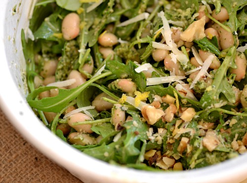 White Bean Pesto Salad