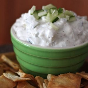 Cucumber and Feta Greek Yogurt Dip