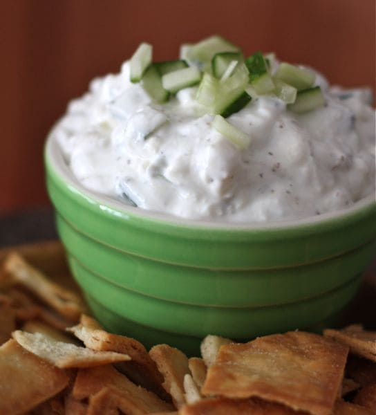 Cucumber & Feta Greek Yogurt Dip