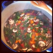 Kale, Mushroom and Bean Soup