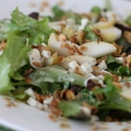 Pear and Granola Salad with Greek Yogurt Poppyseed Dressing