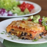 Bush's Two-Bean Vegetarian Mexican Lasagna