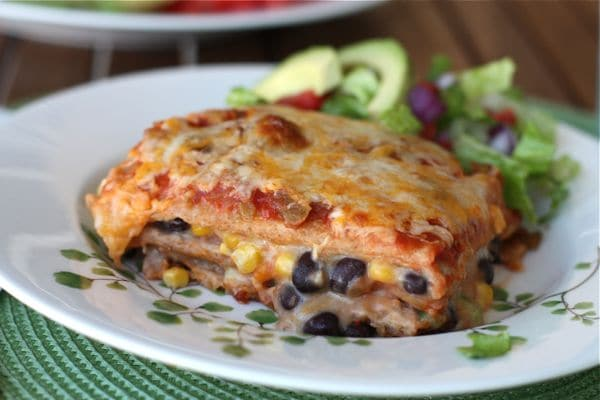 Bushs two bean vegetarian mexican lasagna quick forumfinder Images