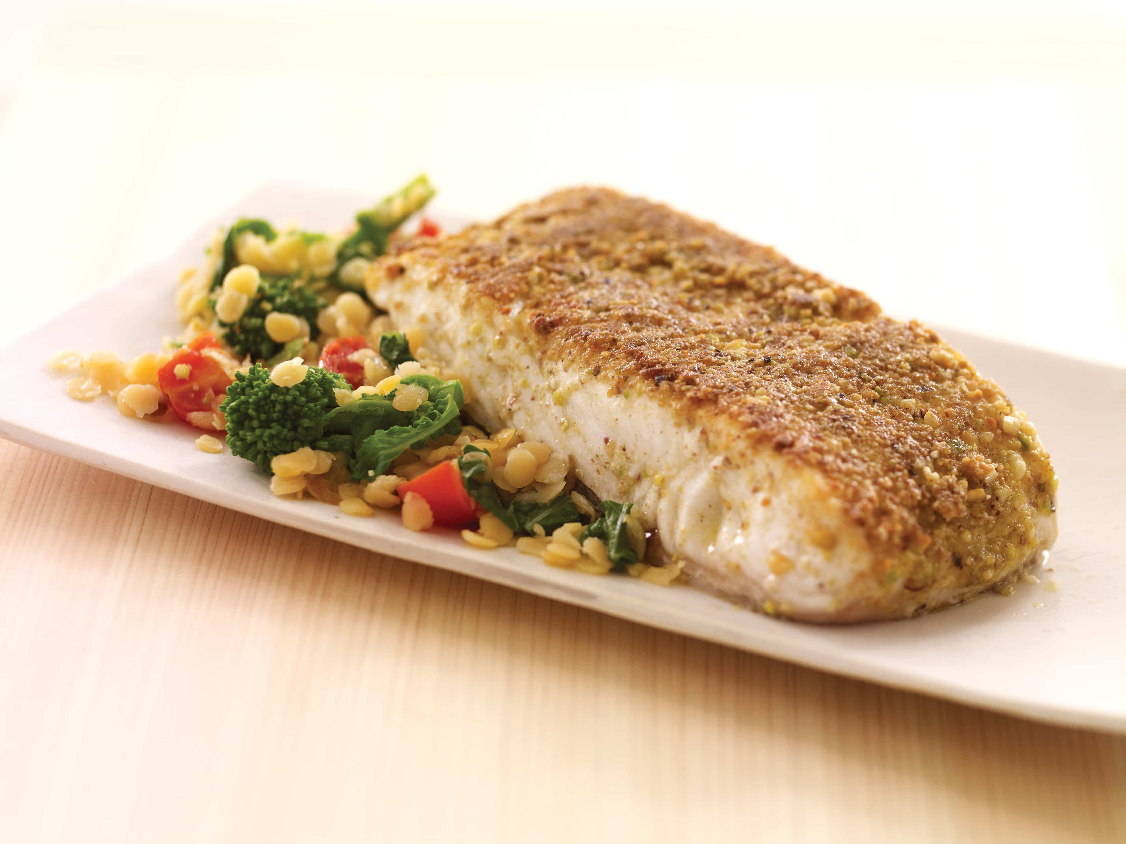 McCormick's Dukkah Crusted Fish with Broccoli and Red Lentils ...