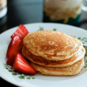 Orange-Vanilla Greek Yogurt Pancakes