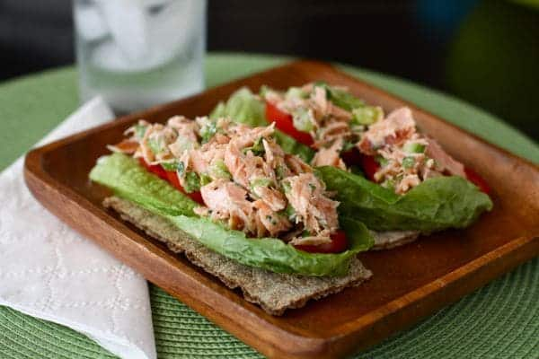 This simple salmon salad is a healthy and easy salmon recipe that's a great twist to ordinary tuna salad. Works well using canned salmon or leftover salmon.