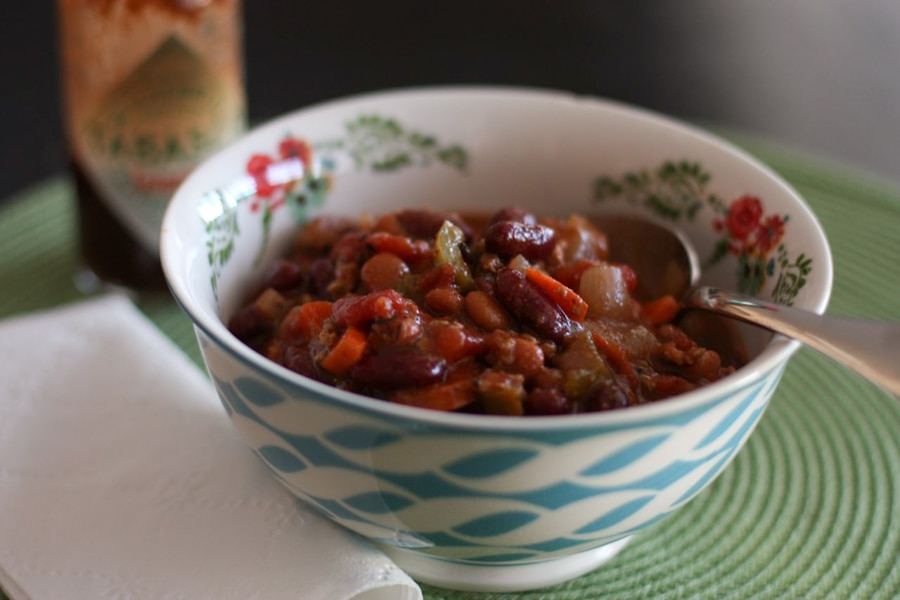 Two-Bean-Turkey-And-Veggie-Chili-recipe-