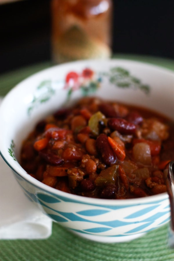 Bush's Two-Bean Turkey and Vegetable Chili
